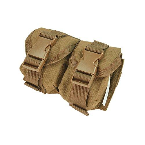 CONDOR Double Frag Grenade Pouch Coyote MA14-498 MOLLE PALS