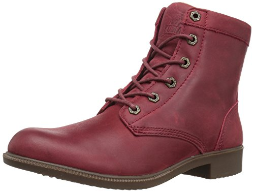 Kodiak Original Women's Waterproof Leather Ankle Winter Boot, Red, 8 M US
