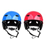 MonkeyJack 2 Pieces Safety Helmet Hard Hat for Rescue Rafting Kayaking Wakeboard Waterskiing Surfing SUP 55-61cm