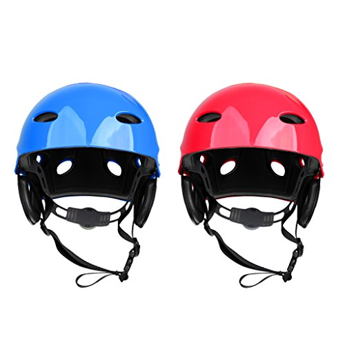 MonkeyJack 2 Pieces Safety Helmet Hard Hat for Rescue Rafting Kayaking Wakeboard Waterskiing Surfing SUP 55-61cm by MonkeyJack
