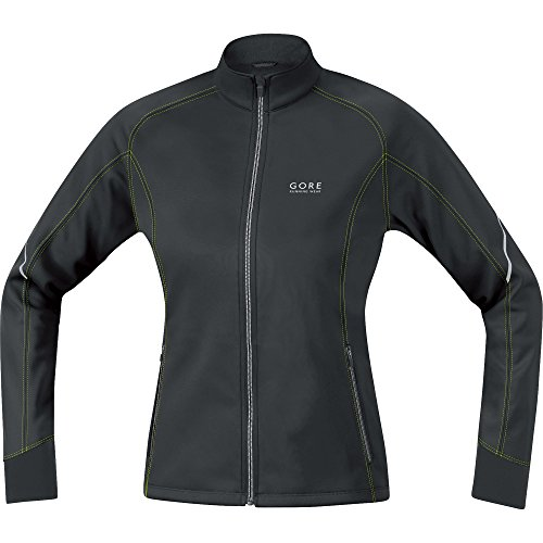 Gore Running Wear Essential Windstopper Soft Shell Lady - Chaqueta de running para mujer Multicolor (Black / Neon Yellow)