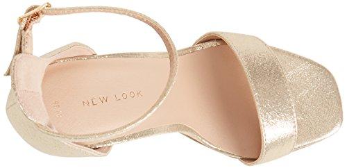 New Look Women's Rocket 3 Ankle Strap Heels Gold (Gold 93) mL768WGHCk