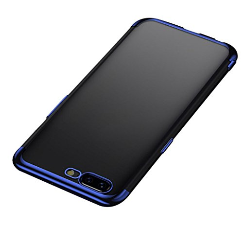 Price comparison product image for Oneplus 5, Clear Case Armor Clear TPU Bumper Protective Back Cover (Blue)