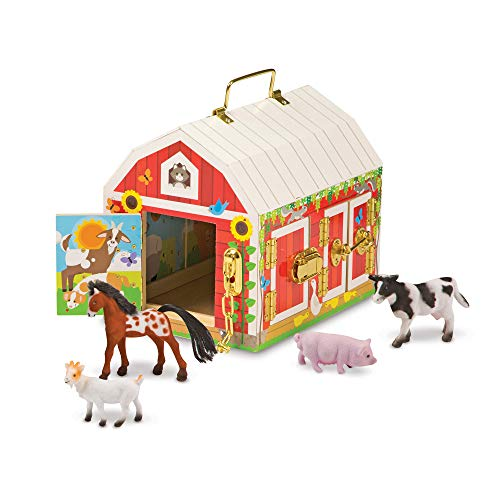 Melissa & Doug Latches Barn Toy (Developmental Toy, Helps...