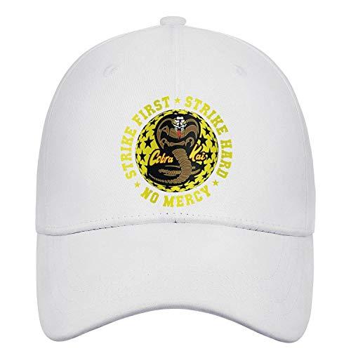 SHTHYTS Womens Cobra-Kai-Strike-Four-Snake-Logo-Adjustable Snapback Hats Cool Golf Trucker Dad Baseball Cap -