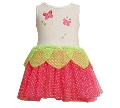 62673445b532 Amazon.com  Bonnie Jean Girls Butterfly Flocked Mesh Tutu Dress ...