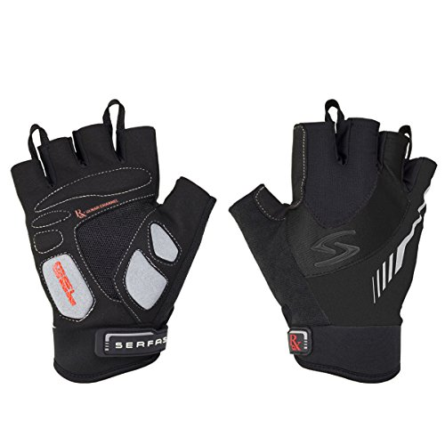 Serfas Men's RSM RX Short Finger Cycling Gloves (Black - M)