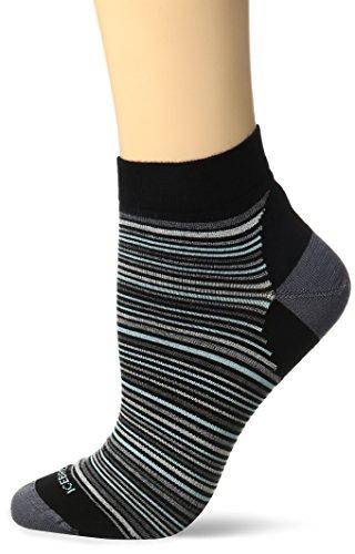Icebreaker Merino Women's Lifestyle Ultra Light Low Cut Multi-Mini Stripe Socks, Black, One Size