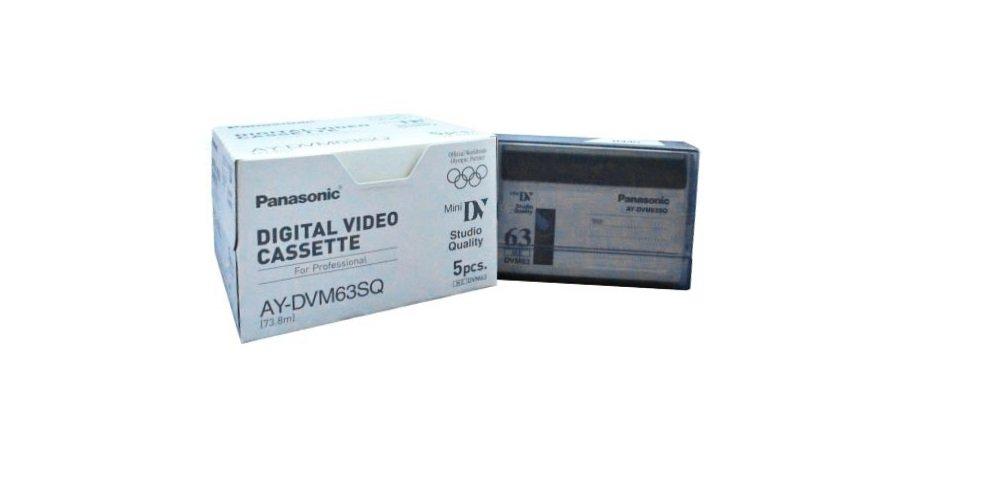 Panasonic AY-DVM63PQ Professional Quality MiniDV 63min Data Tape Cartridge 5 Packs