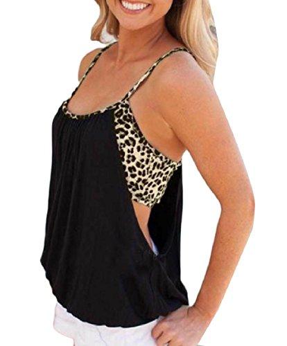 中国ケージ壁紙VITryst 婦人用ヒョウ柄フェイクシャツ2枚のファッションセクシーなベストスリング