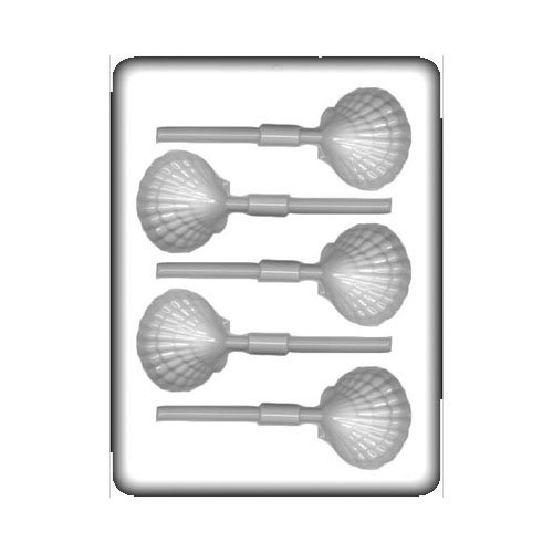 CK Products 8H-12834 Clam Lollipop Hard Candy Mold White