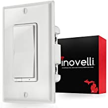 Z-Wave Dimmer Switch + Built-In Z-Wave Repeater (zwave plus) | In-Wall Light Switch (Paddle) works with Samsung SmartThings & Wink Hub | Easy 3 & 4-Way Solution (No Add-On Needed) | Inovelli