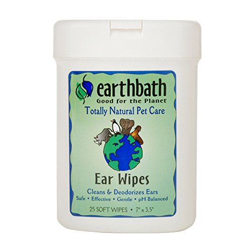 Earthbath All Natural Specialty Ear Wipes, 25 Wipes