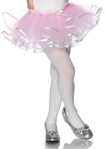 Enchanted Reversible Ribbon Trimmed Tutu (White/Pink;One Size)