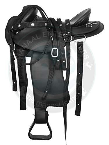 Manaal Enterprises Youth Child Synthetic Australian Pony Miniature HB Australian Half Breed Horse Saddle Tack Size 10
