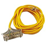 CCI 03487 Polar/Solar Outdoor Extension Cord 25ft Three-Outlets Yellow