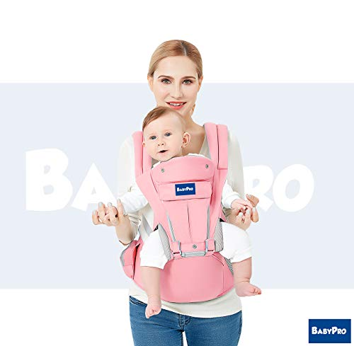BabyPro 360 Ergonomic Baby Carrier Front and Back - 9 Positions, Easy Breastfeeding, One Size Fits All - Adapt to Newborn, Infant & Toddler, Great Hiking Backpack Carrier, All Season Baby Sling from BabyPro