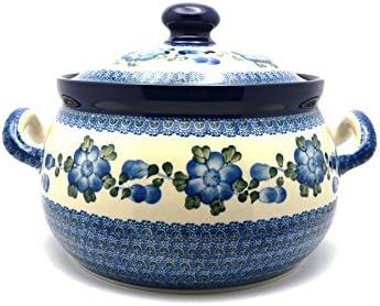 Blue Poppy Polish Pottery Ladle Large