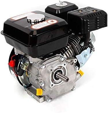 Motor de gasolina de 7,5 CV, 5,1 kW, refrigeración de aire forzado de 4 tiempos, 210 ml, desplazamiento estrecho, Negro