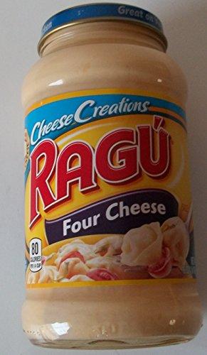 Ragu Cheesy Creations Sauce 16oz Jar (Pack of 4) (Four Cheese)