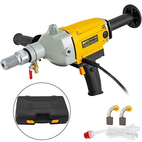 Happybuy Diamond Core Drilling Machine 5 Inch 130 mm Handheld Diamond Core Drill Rig Variable Speed Wet Dry Core Drill Rig Concrete Coring Drill Machine for Diamond Concrete Drilling Boring (5″ 130mm)