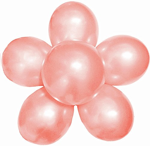 Elecrainbow 100 Pack 12 Inch 3.2 g/pc Thicken Round Metallic Pearlescent Latex Balloons - Shining Flesh Pink Balloons for Party Supplies and Decorations