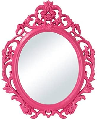 Better Homes And Gardens Baroque Oval Wall Mirror Fuchsia