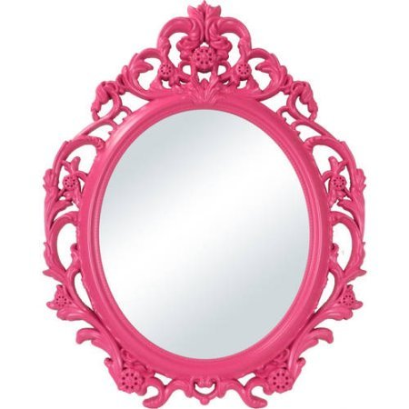 Better Homes and Gardens Baroque Oval Wall Mirror Fuchsia from Better Homes & Gardens