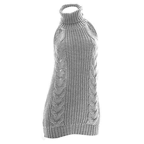 YOMORIO Womens Anime Virgin Killer Sweater Japanese Turtleneck Knitted Underwear Backless Pullover