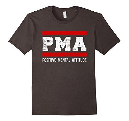 Mens Attitude Tees - Mens Positive Mental Attitude T-Shirt. PMA Tee Medium Asphalt