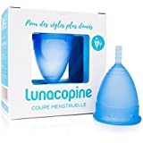 Lunette Menstruationstasse Selene - blau - Modell 2: Für normale bis starke Blutung - Ganz ohne Fadenspiel