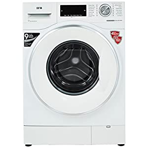 IFB 8.5 kg Inverter Fully-Automatic Front Loading Washing Machine (Executive Plus VX ID, White, Inbuilt Heater, Aqua Energie water softener)