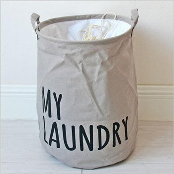 BranXin - Waterproof Laundry Basket Canvas Storage Basket Fo
