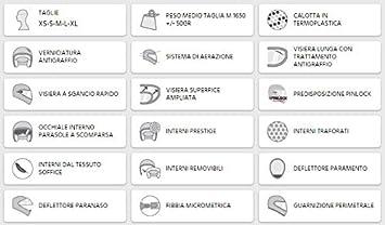 506A-BLV-06 AZUL MATE CASCO CONVERTIBLE L PANTALLA INTERNA EXTRA FUME OSAKA pinlock