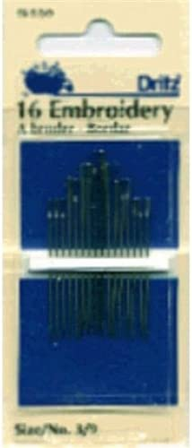 Embroidery Hand Needles-Size 3//9 16//Pkg