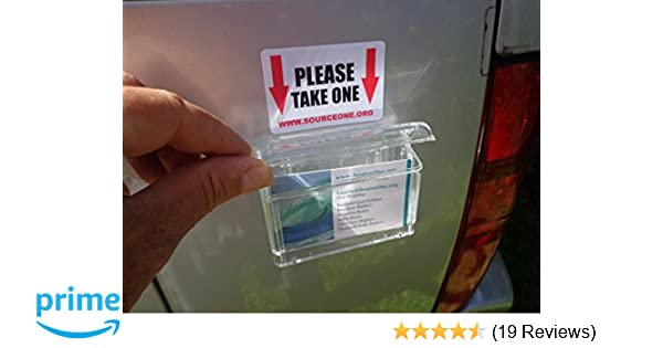 Amazon source one outdoor vehicle business card holder peel amazon source one outdoor vehicle business card holder peel and stick free take one exterior sticker included as pictured s1 obc wsticker reheart Image collections