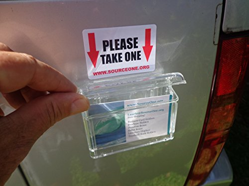 Source One Outdoor Vehicle Business Card Holder Peel and Stick Free Take One Exterior Sticker Included As Pictured (S1-OBC-WSTICKER) (Sticker And Cards 1)