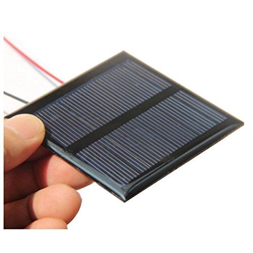 SODIAL(R) 0.6W 5.5V solar panels polycrystalline silicon solar patch plastic DIY solar panels + line 65 * 65mm
