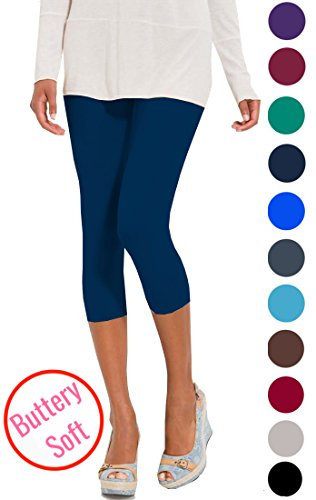 Navy Blue Capri Pants - 4