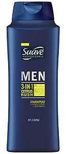 Suave Professionals Mens, 3 in 1 Shampoo/Conditioner/Body Wash, Citrus Rush, 28oz