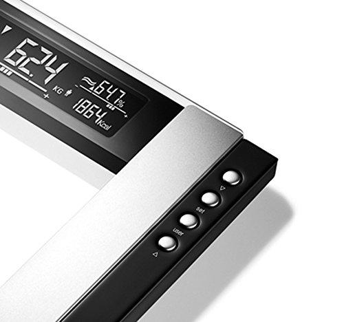 Beurer BG 55 - Báscula de baño diagnóstica de vidrio, pantalla LCD 2 líneas, gran plataforma 35 x 42 cm, transparente: Amazon.es: Salud y cuidado personal