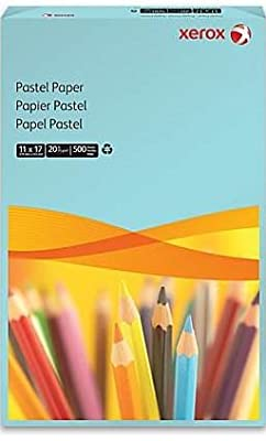 Xerox(R) Multipurpose Color Paper, 11in. x 17in., 20 Lb, 30% Recycled, Blue, Ream Of 500 Sheets