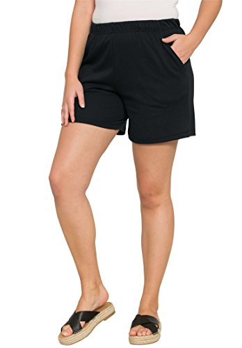 Roamans Women's Plus Size Soft Knit Shorts by Roamans