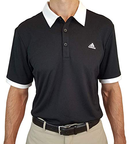 adidas Men's Golf Pique Polo Shirt (Black, XL) ()