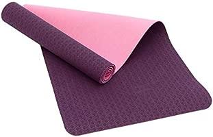 Fitem Eco Natura - Esterilla de gimnasia y yoga de TPE, reversible, antideslizante y respetuosa con el medio ambiente (176 x 61 x 0,6 cm) ideal para ...