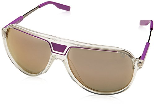 Nike MDL 245 Grey with Violet Flash Lens Sunglass, Clear/Laser - Tennis Nike Sunglasses