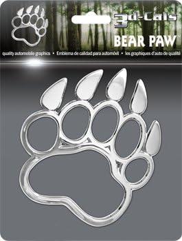 Cruiser Accessories 83703 Chrome 3D-Cals Bear Paw