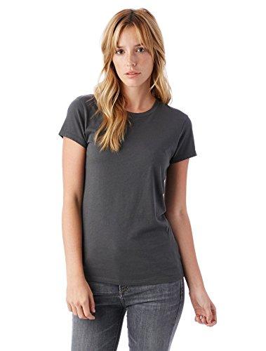 Alternative Women's Organic Cotton Short Sleeve Tee, Earth Coal, Large