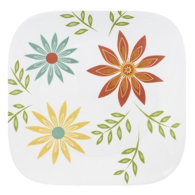 Corelle Square 10-1/4-Inch Dinner Plate, Happy Days by World Kitchen (PA) (Corelle Happy Days Plates compare prices)