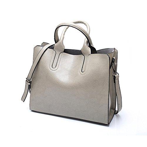 VANCOO Damen Handtasche Damen Henkeltasche Elegante Umhängetasche für Damen Weibliche Schultertasche Handtaschen Tasche Grau fwdXzO